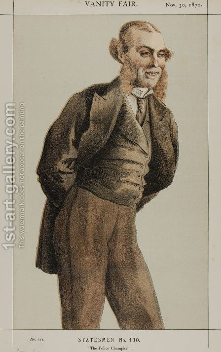 Statesmen No.1300 Caricature of Mr Roger Eykyn, Liberal M.P. for Windsor by James Jacques Joseph Tissot - Reproduction Oil Painting