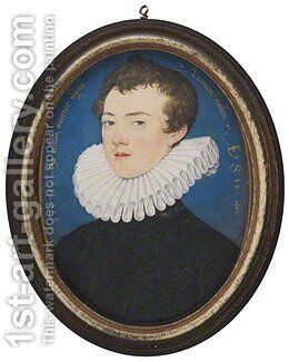 Francis Bacon, Viscount St Alban by Nicholas Hilliard - Reproduction Oil Painting