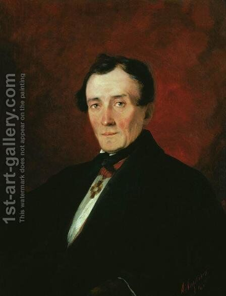Portrait of a Man by Ivan Konstantinovich Aivazovsky - Reproduction Oil Painting