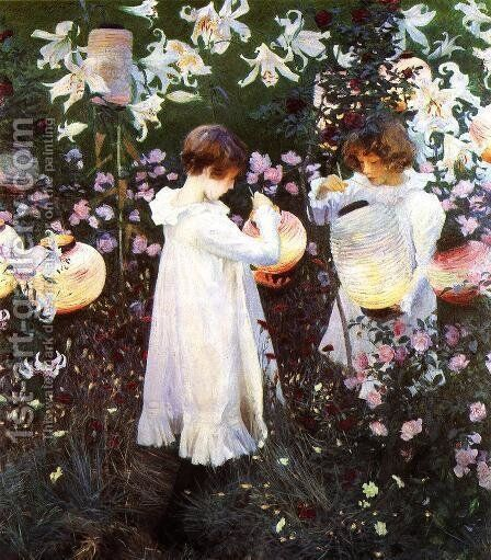 Carnation, Lily, Lily, Rose, from 'The World's Greatest Paintings' published by Oldham's Press in 1920 by Sargent - Reproduction Oil Painting