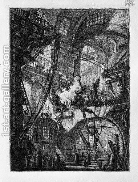 The Smoking Fire by Giovanni Battista Piranesi - Reproduction Oil Painting