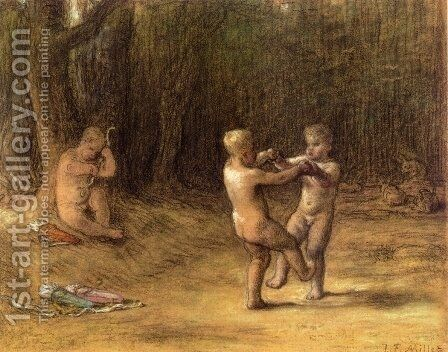 Amour's dance by Jean-Francois Millet - Reproduction Oil Painting