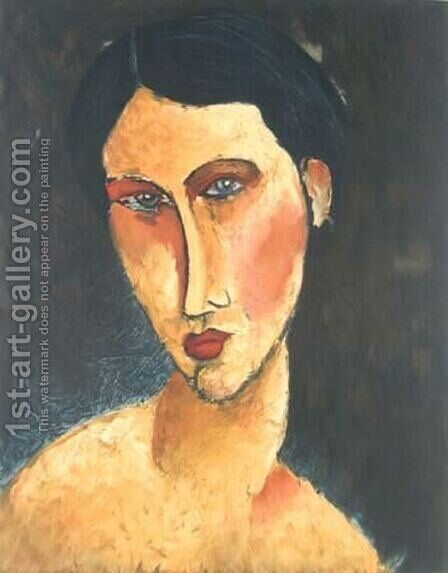 Young Girl with Blue Eyes by Amedeo Modigliani - Reproduction Oil Painting