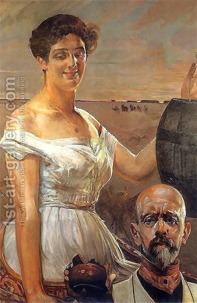 In wells by Jacek Malczewski - Reproduction Oil Painting