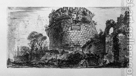 Amphitheatre of Verona by Giovanni Battista Piranesi - Reproduction Oil Painting