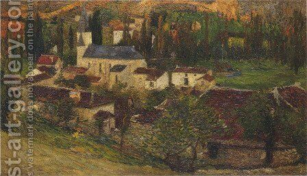 The Village among the trees by Henri Martin - Reproduction Oil Painting