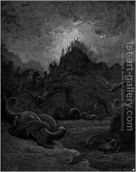 Paradise Lost 10 by Gustave Dore - Reproduction Oil Painting