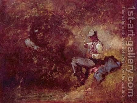 The fisherman 2 by Carl Spitzweg - Reproduction Oil Painting