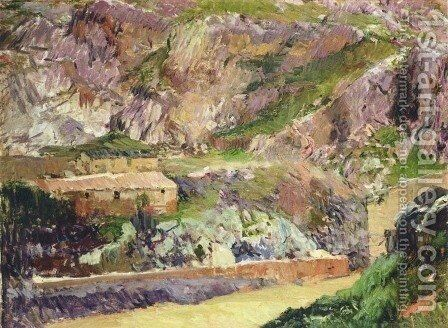 Windmills on the Tagus, Toledo by Joaquin Sorolla y Bastida - Reproduction Oil Painting