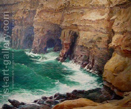 La Jolla Caves by Guy Rose - Reproduction Oil Painting