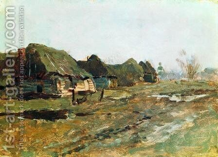 Quartered in the village by Isaak Ilyich Levitan - Reproduction Oil Painting
