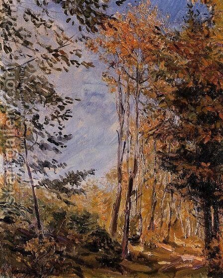 Autumn Forest by Max Slevogt - Reproduction Oil Painting