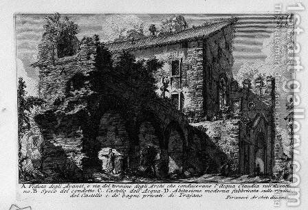 The Roman antiquities, t. 1, Plate XXIII. Aventine Hill. 2 by Giovanni Battista Piranesi - Reproduction Oil Painting