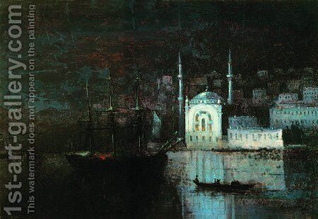 Night Constantinople by Ivan Konstantinovich Aivazovsky - Reproduction Oil Painting