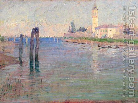 The Gondolier, Venice by Guy Rose - Reproduction Oil Painting