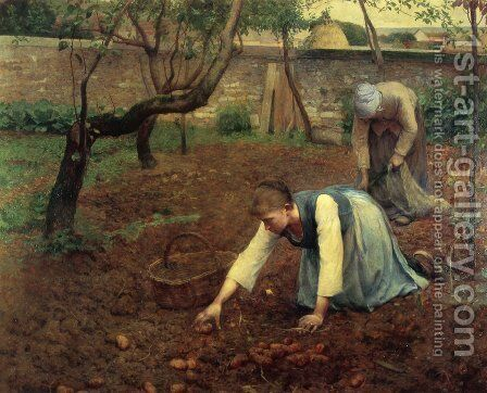 The Potato Gatherers by Guy Rose - Reproduction Oil Painting