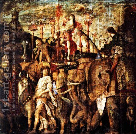 Trumpet players by Andrea Mantegna - Reproduction Oil Painting