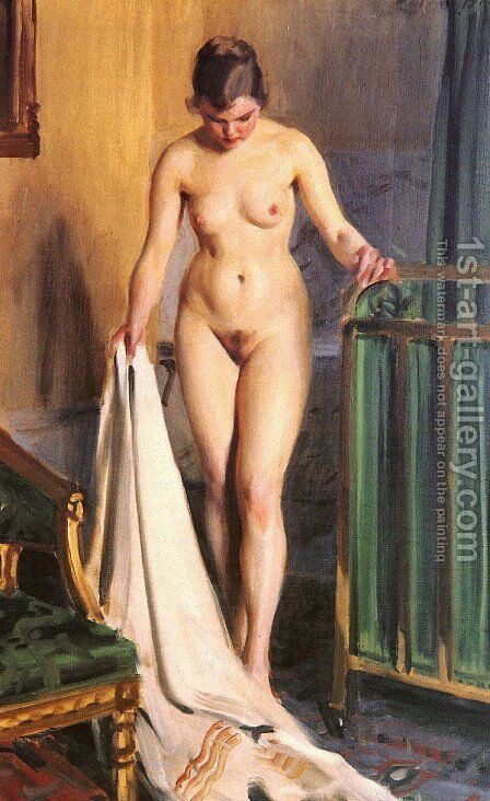 The bedroom by Anders Zorn - Reproduction Oil Painting