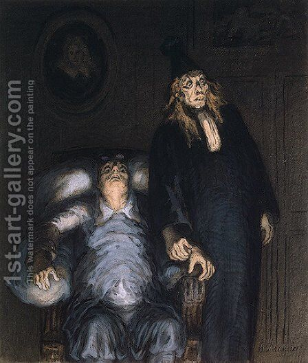 The Imaginary Invalid by Honoré Daumier - Reproduction Oil Painting