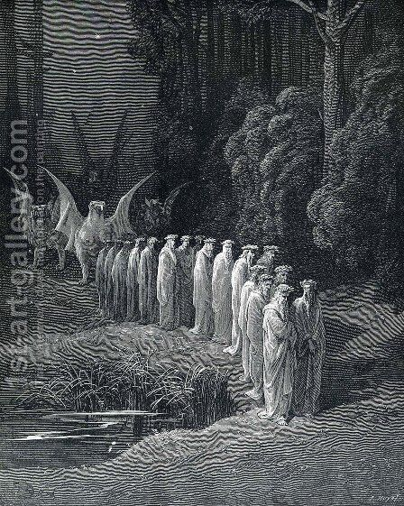 Purgatorio by Gustave Dore - Reproduction Oil Painting
