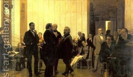 Slavic composers by Ilya Efimovich Efimovich Repin - Reproduction Oil Painting