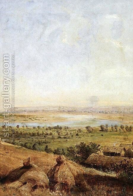 Compressed field by Alexei Kondratyevich Savrasov - Reproduction Oil Painting