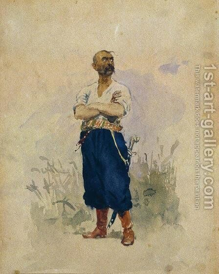 Zaporozhets 2 by Ilya Efimovich Efimovich Repin - Reproduction Oil Painting