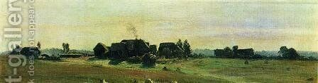 Village 3 by Isaak Ilyich Levitan - Reproduction Oil Painting