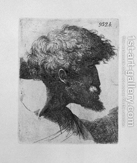 Old man's head in profile by Giovanni Battista Piranesi - Reproduction Oil Painting