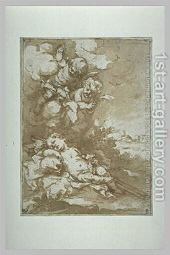 The Christ Child asleep on the Cross by Bartolome Esteban Murillo - Reproduction Oil Painting
