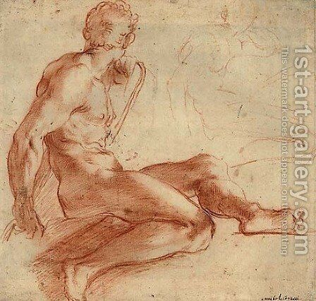 Nude Study by Annibale Carracci - Reproduction Oil Painting