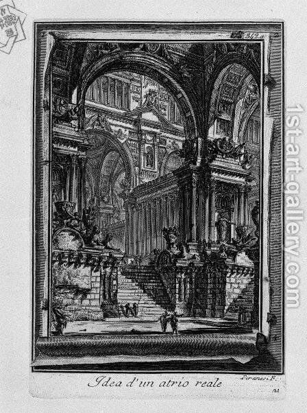 Idea of a real-Hall by Giovanni Battista Piranesi - Reproduction Oil Painting