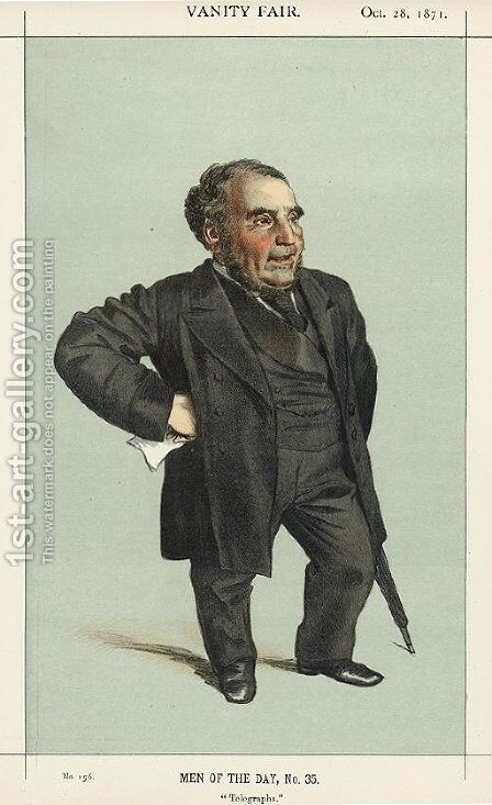 Caricature of John Pender by James Jacques Joseph Tissot - Reproduction Oil Painting