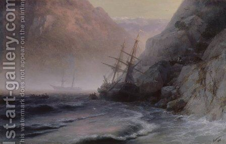 Smugglers by Ivan Konstantinovich Aivazovsky - Reproduction Oil Painting