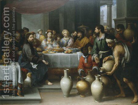 The Marriage Feast at Cana by Bartolome Esteban Murillo - Reproduction Oil Painting