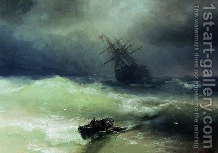The Tempest 6 by Ivan Konstantinovich Aivazovsky - Reproduction Oil Painting