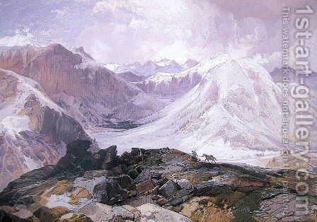 Mosquito Trail, Rocky Mountains, Colorado by Thomas Moran - Reproduction Oil Painting
