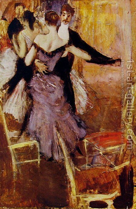 Ballerina in Mauve by Giovanni Boldini - Reproduction Oil Painting