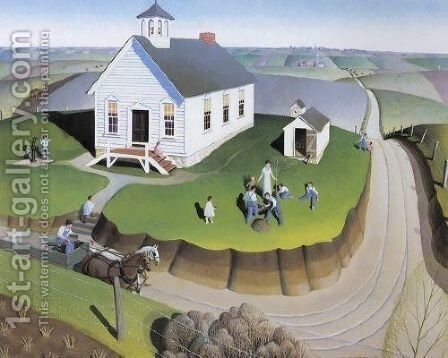Arbor Day by Grant Wood - Reproduction Oil Painting