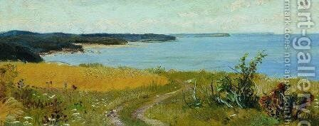 View of the beach by Ivan Shishkin - Reproduction Oil Painting