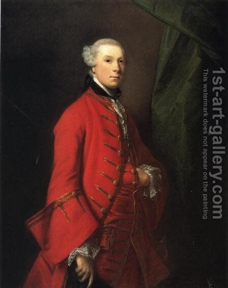 Portrait of Robert Shafto, called 'Bonnie Bobbie Shafto' by Sir Joshua Reynolds - Reproduction Oil Painting