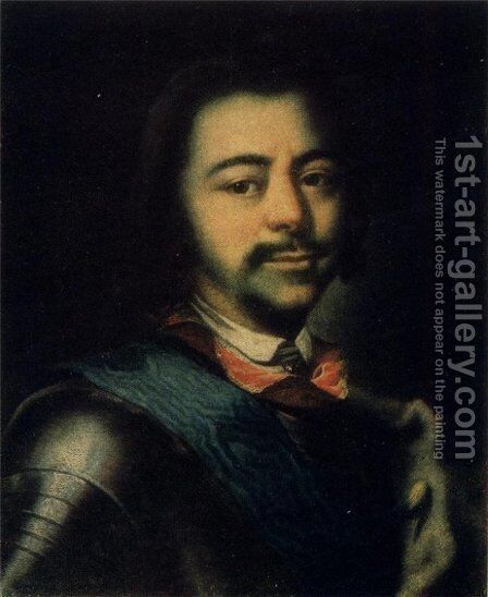 Peter I 2 by Ivan Nikitich Nikitin - Reproduction Oil Painting
