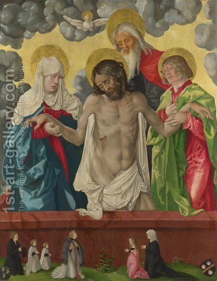 The Trinity and Mystic Pieta by Hans Baldung  Grien - Reproduction Oil Painting