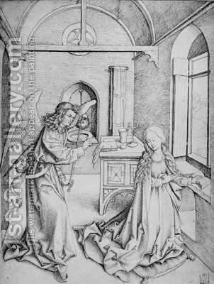 Annunciation 2 by Martin Schongauer - Reproduction Oil Painting