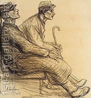 Convalescents by Theophile Alexandre Steinlen - Reproduction Oil Painting