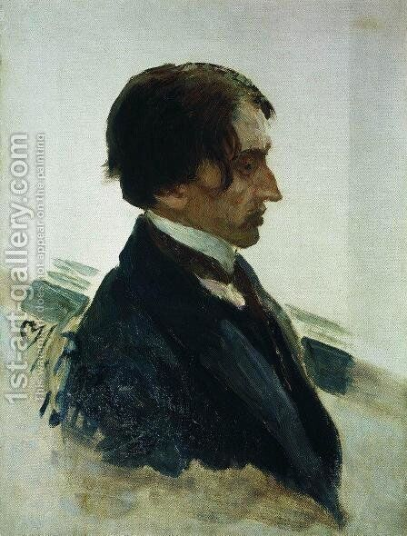 Portrait of the Artist Isaak Brodskiy by Ilya Efimovich Efimovich Repin - Reproduction Oil Painting