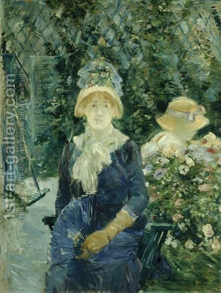 Woman in a Garden by Berthe Morisot - Reproduction Oil Painting