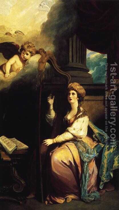 St. Cecillia by Sir Joshua Reynolds - Reproduction Oil Painting