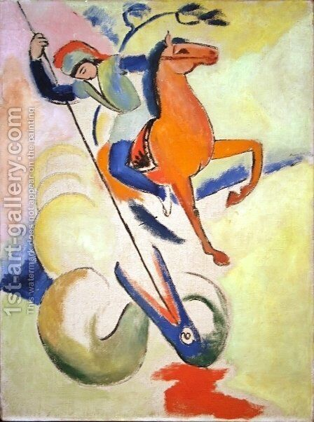 St. George by August Macke - Reproduction Oil Painting