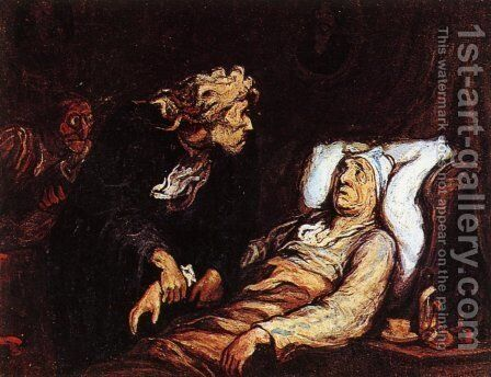 The Hypochondriac by Honoré Daumier - Reproduction Oil Painting